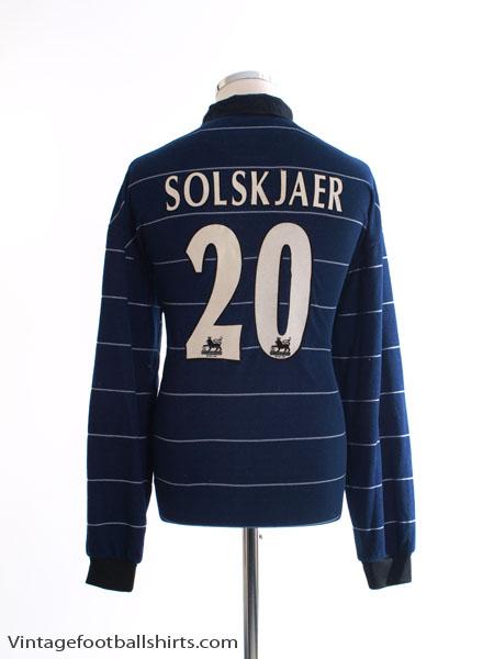 1999-00 Manchester United Away Shirt Solskjaer #20 L/S M