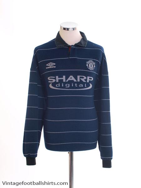 1999-00 Manchester United Away Shirt L/S *Mint* XXL