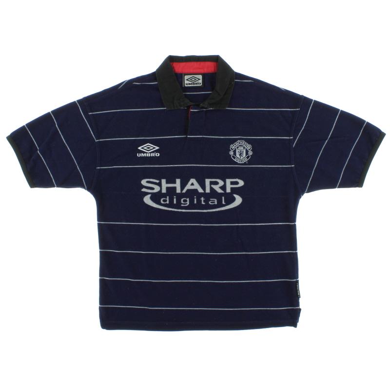 1999-00 Manchester United Away Shirt Womens 14 - 5060666840025