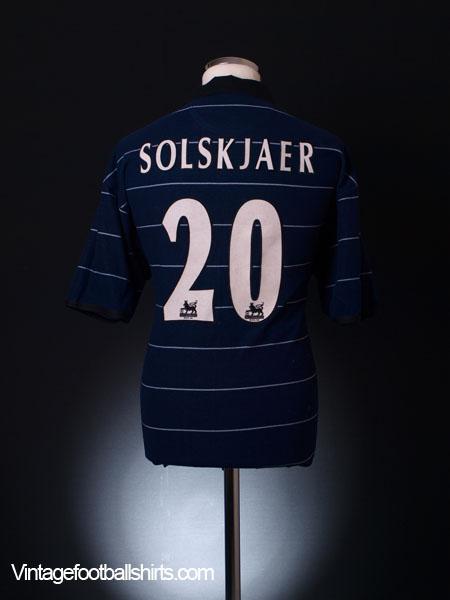 sale retailer 61c2b 9c3fc 1999-00 Manchester United Away Shirt Solskjaer #20 M for sale