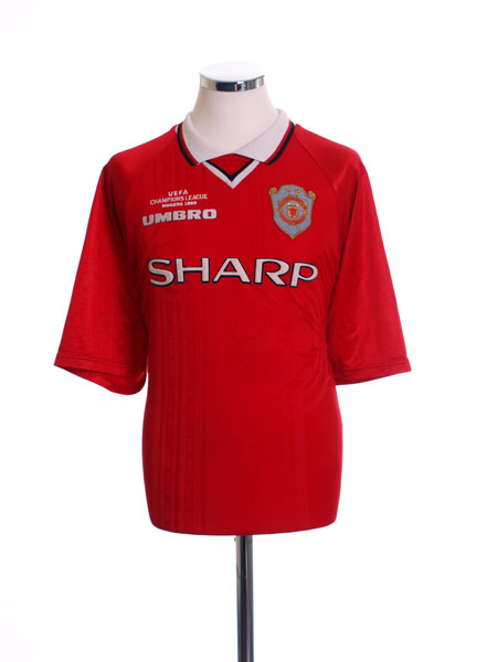 1999-00 Manchester United Champions League Winners Shirt Y