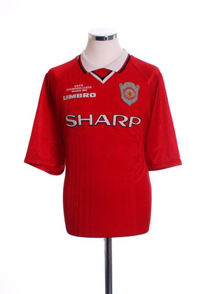 1999-00 Manchester United CL Winners Shirt M.Boys