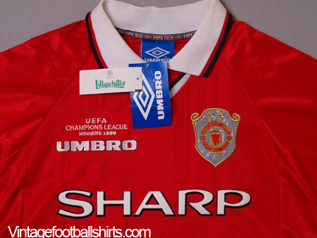 1999 00 Manchester United Champions League Winners Shirt