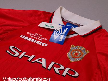 1999 00 Manchester United Champions League Winners Shirt
