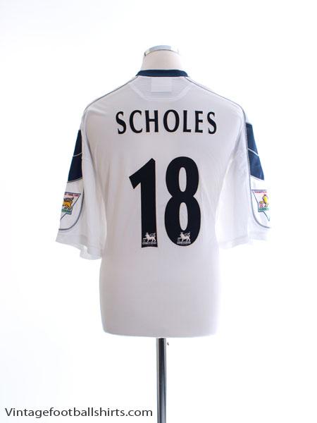 1999-00 Manchester United Third Shirt Scholes #18 XXL