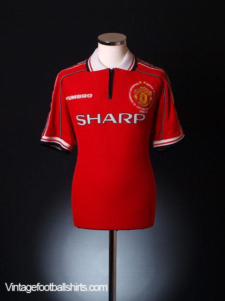 1998-00 Manchester United  Treble Winners  Home Shirt XL for sale 9e6185d8e
