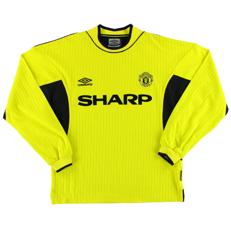 1999-00 Manchester United Umbro Goalkeeper Shirt *As New* Y