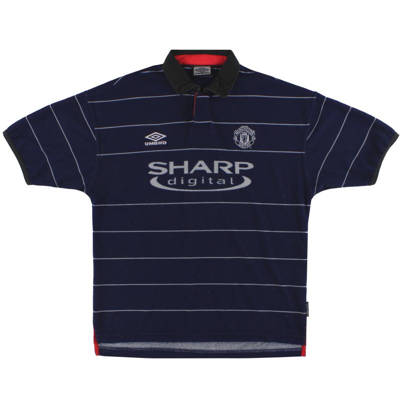 1999-00 Manchester United Umbro Away Shirt XXL - 735540