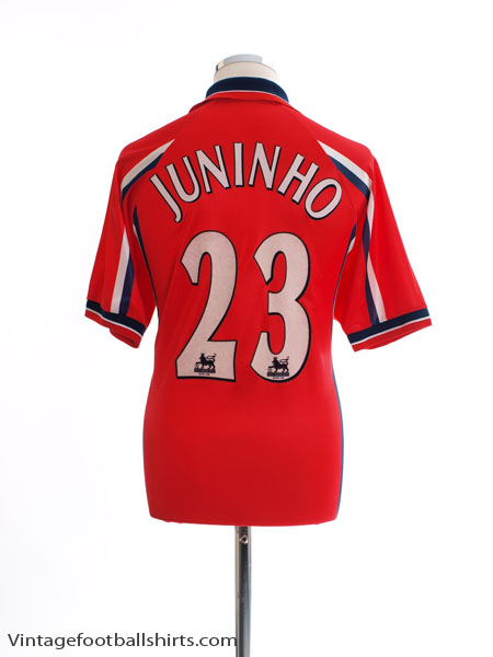 1999-00 Middlesbrough Home Shirt Juninho #23 L