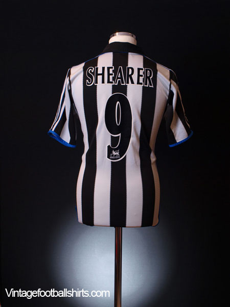 1999-00 Newcastle Home Shirt Shearer #9 XL