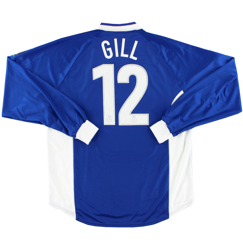 1999-00 Peterborough Match Issue Home Shirt Gill #12 L/S XL