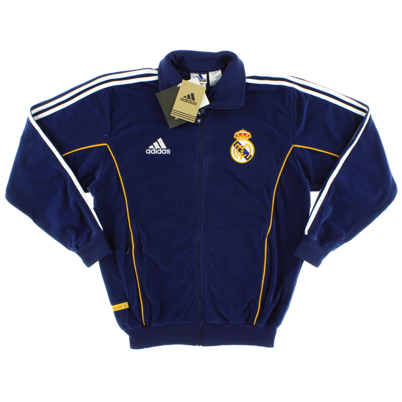 1999-00 Real Madrid adidas Fleece Presentation Jacket *w/tags* S - 635808