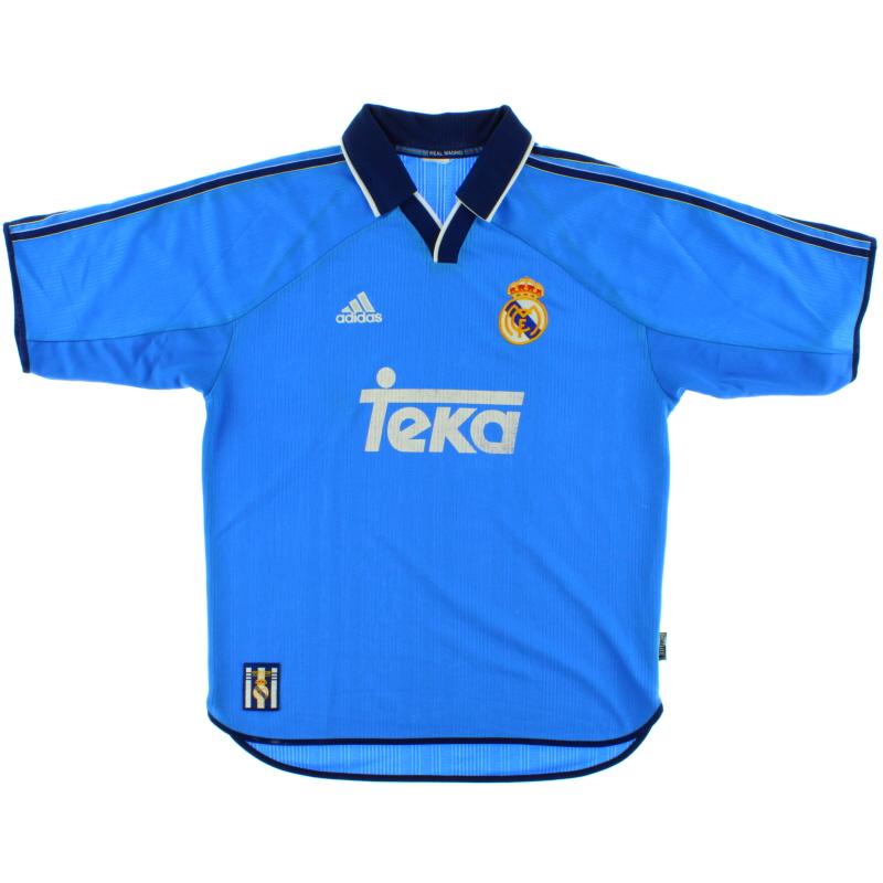 1999-00 Real Madrid adidas Third Shirt L - 627116