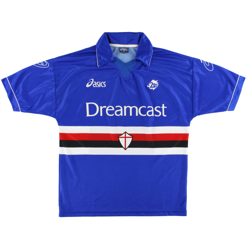 1999-00 Sampdoria Asics Home Shirt M