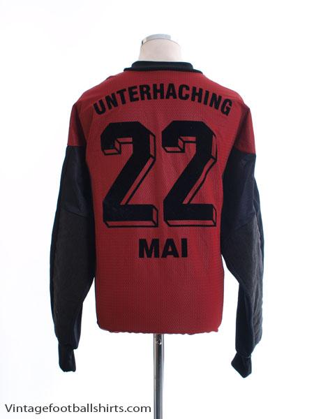 1999-00 Unterhaching Match Issue Gk Shirt Mai #22 XXL