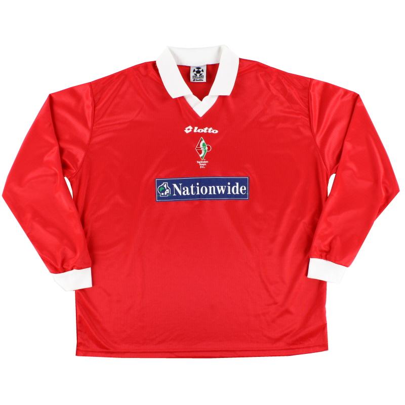 1999-00 Swindon Town Home Shirt L/S XXL