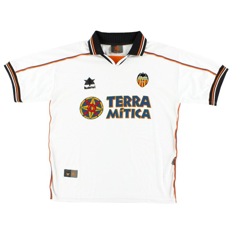 1999-00 Valencia Home Shirt M