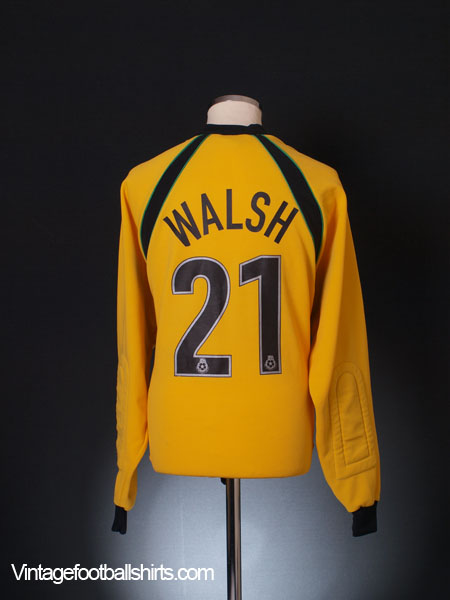 1999-00 Wrexham Match Issue Goalkeeper Shirt Walsh #21 L/S XXL