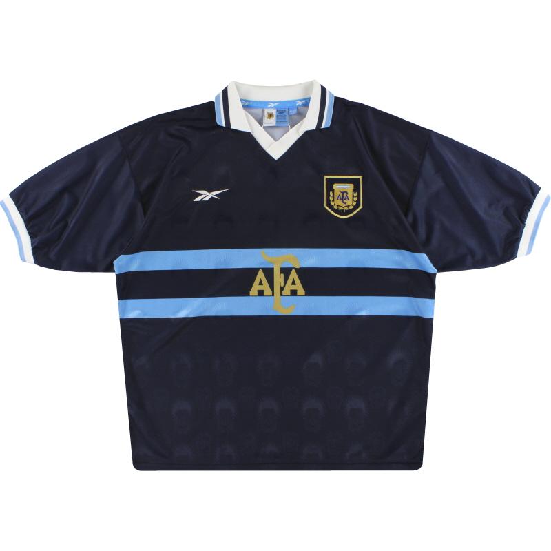 1999-01 Argentina Reebok Away Shirt *Mint* XL