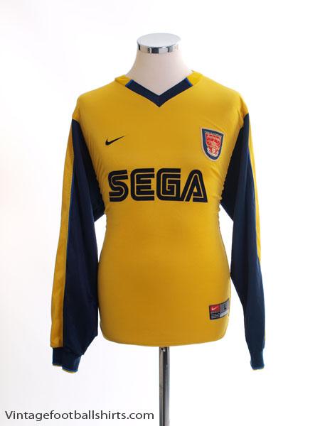 1999-01 Arsenal Away Shirt L/S L