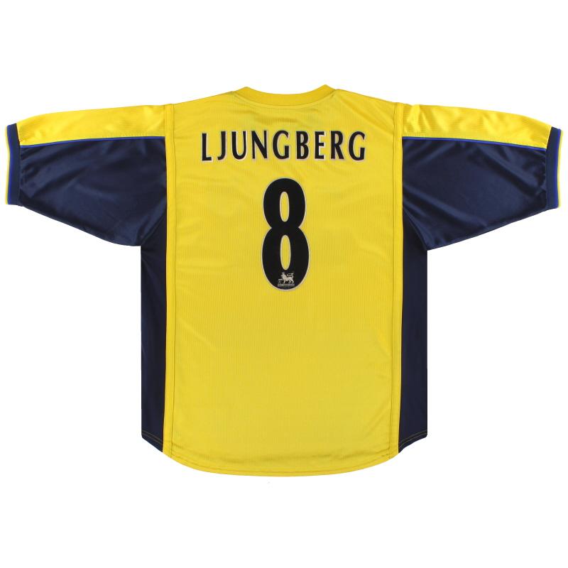 1999-01 Arsenal Nike Away Shirt Ljungberg #8  - 162079-704