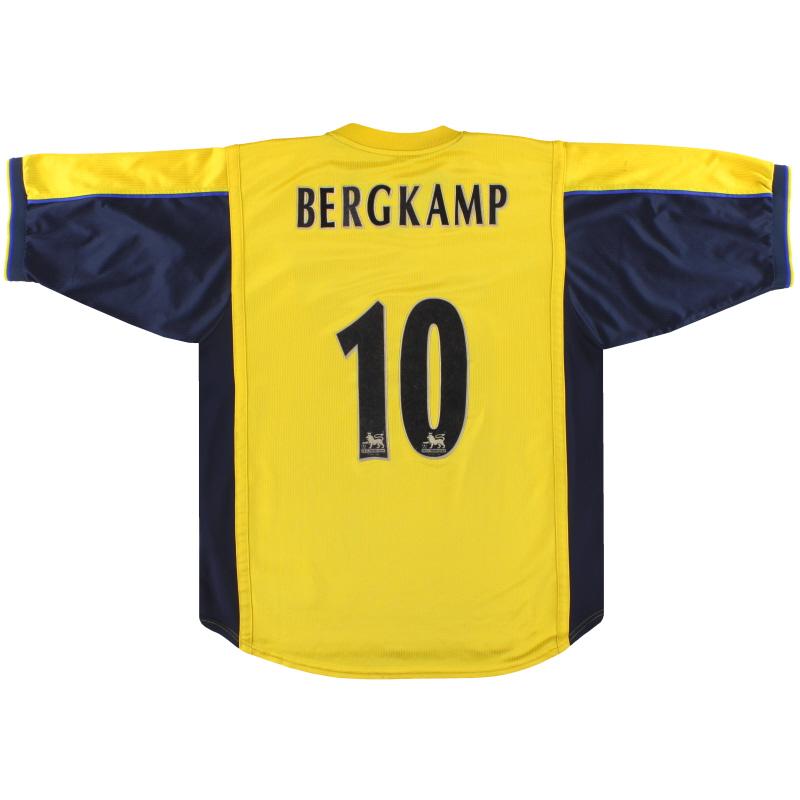 1999-01 Arsenal Nike Away Shirt Bergkamp #10 XL - 162079-704