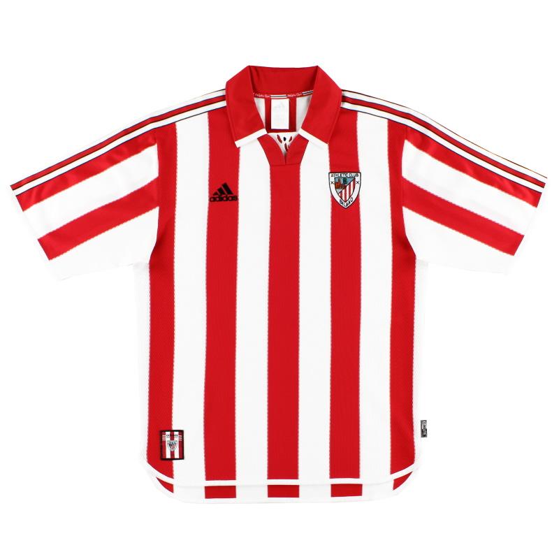 1999-01 Athletic Bilbao adidas Home Shirt *Mint* M - 646663