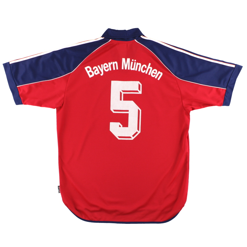 1999-01 Bayern Munich adidas Home Shirt #5 *As New* L - 627265