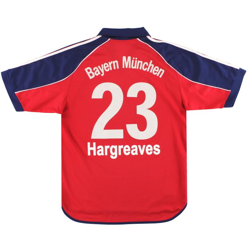 1999-01 Bayern Munich adidas Home Shirt Hargreaves  #23 M