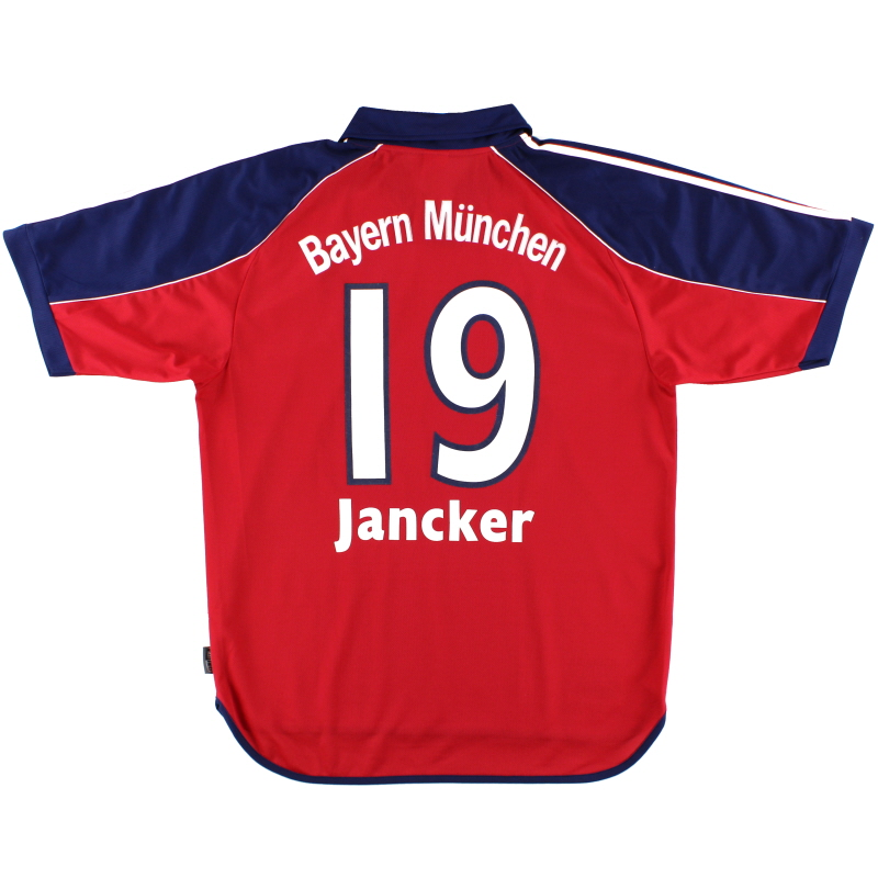1999-01 Bayern Munich Home Shirt Jancker #19 L