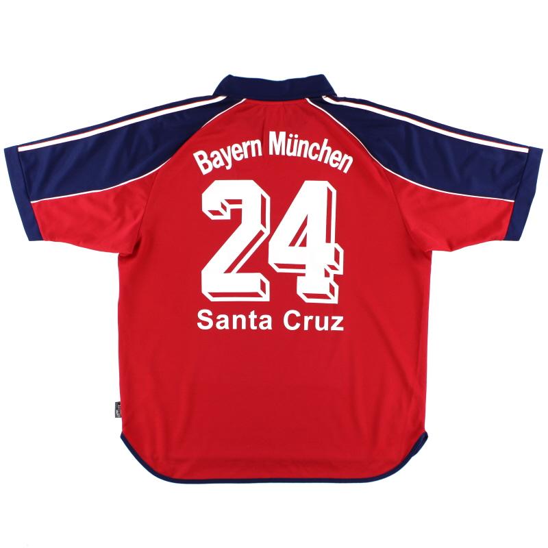 1999-01 Bayern Munich Home Shirt Santa Cruz #24 XL
