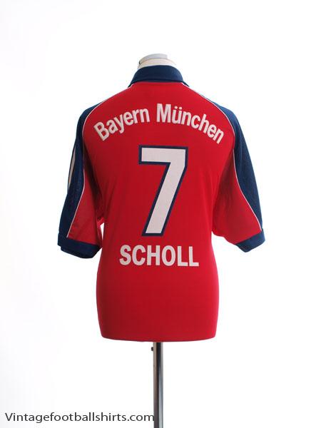 1999-01 Bayern Munich Home Shirt Scholl #7 S