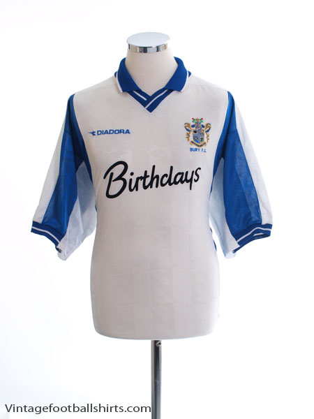 1999-01 Bury Home Shirt *Mint* XL