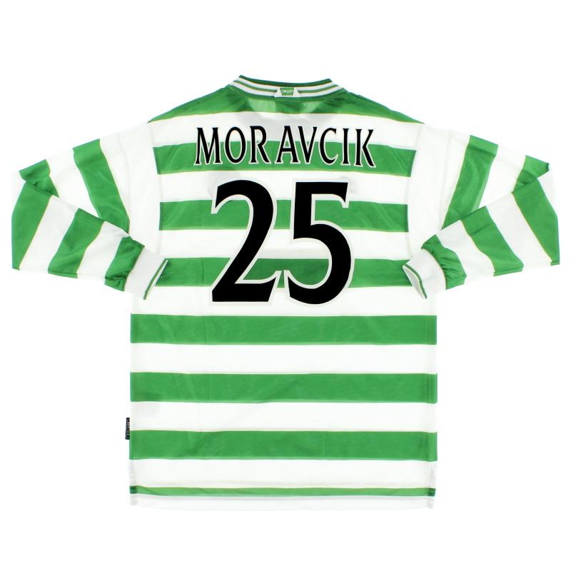 1999-01 Celtic Home Shirt Moravcik #25 L/S *Mint* XL