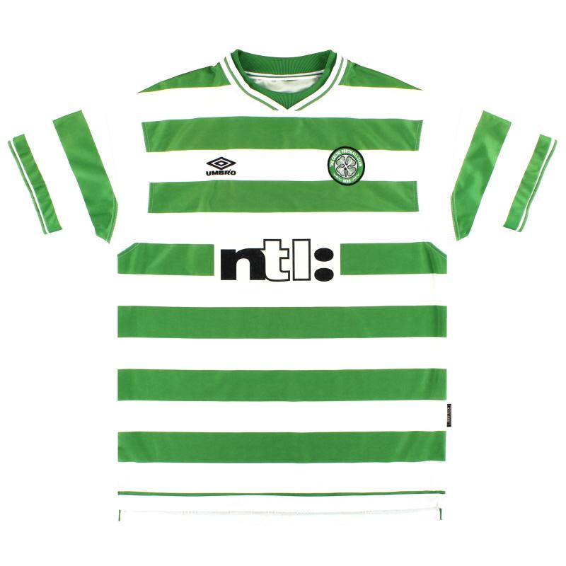 1999-01 Celtic Umbro Home Shirt XXL