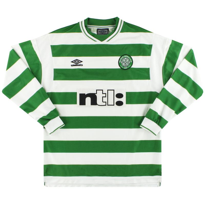 1999-01 Celtic Umbro Home Shirt L/S L