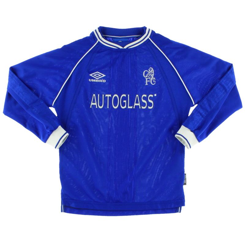 1999-01 Chelsea Home Shirt L/S Y