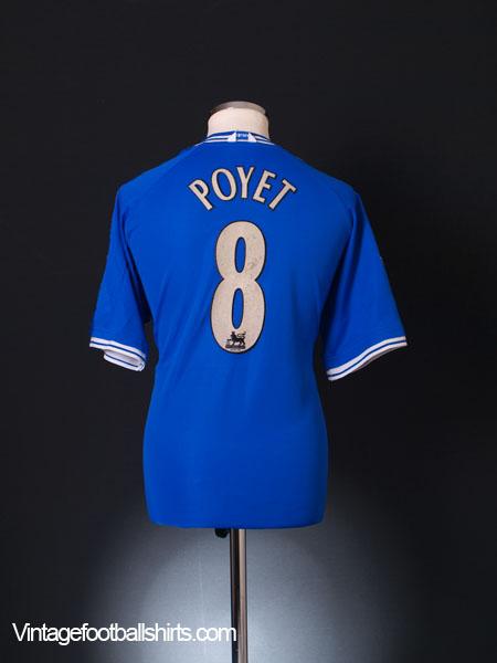 1999-01 Chelsea Home Shirt Poyet #8 L