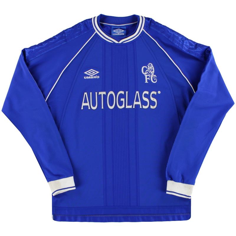 1999-01 Chelsea Umbro Home Shirt L/S M