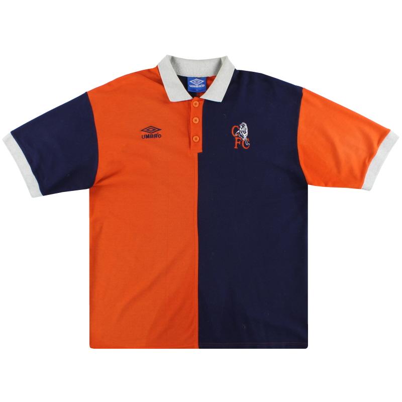 1999-01 Chelsea Umbro Polo Shirt XL
