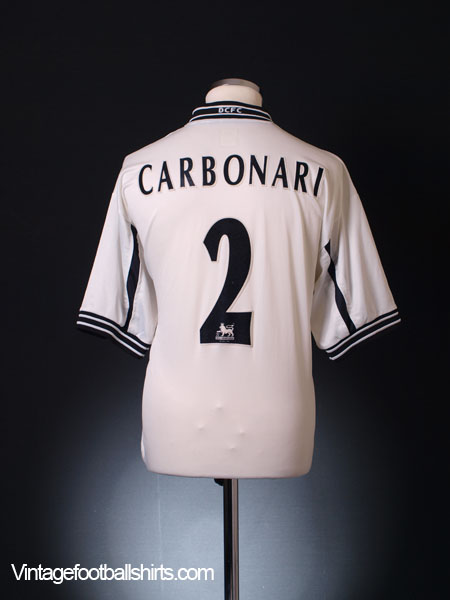 1999-01 Derby County Home Shirt Carbonari #2 L