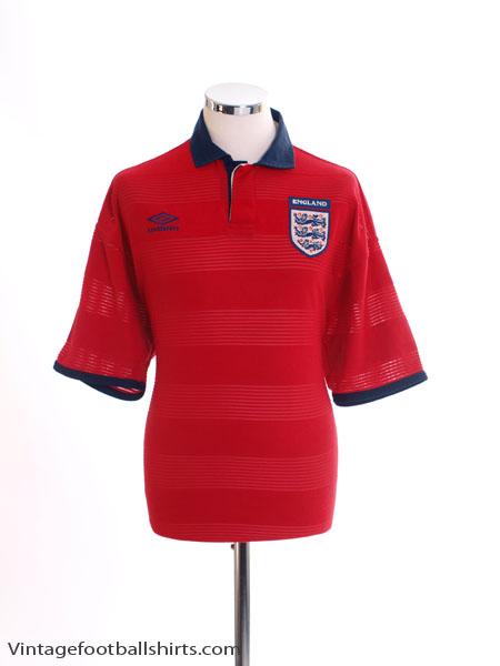 1999-01 England Away Shirt L