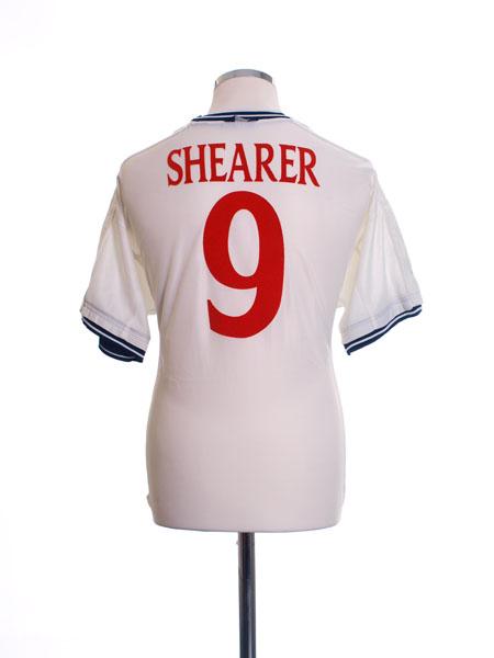 1999-01 England Home Shirt Shearer #9 L