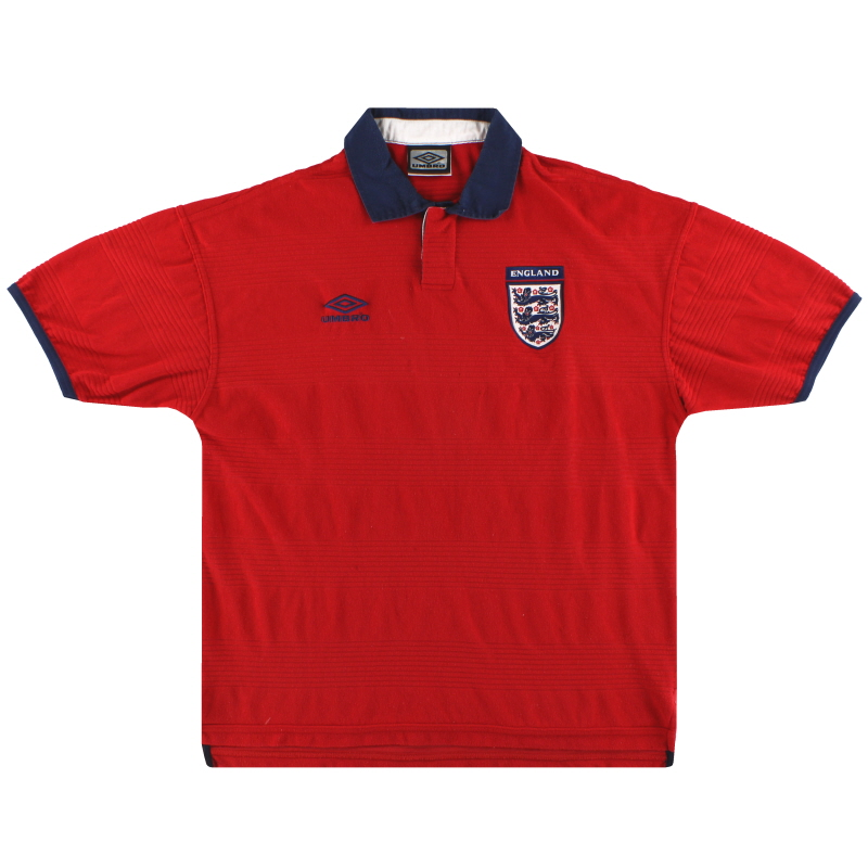 1999-01 England Umbro Away Shirt L