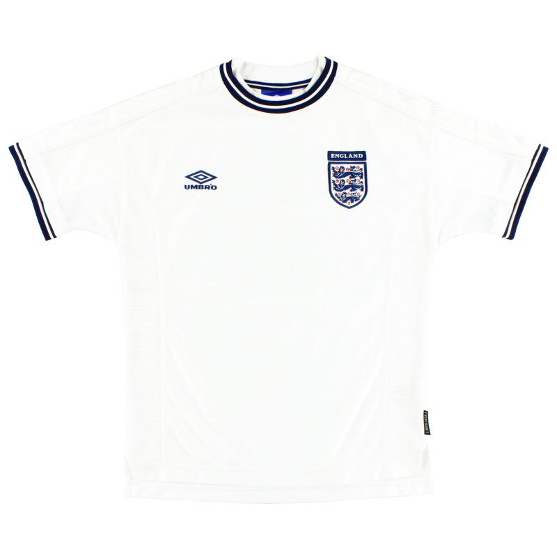1999-01 England Umbro Home Shirt L.Boys