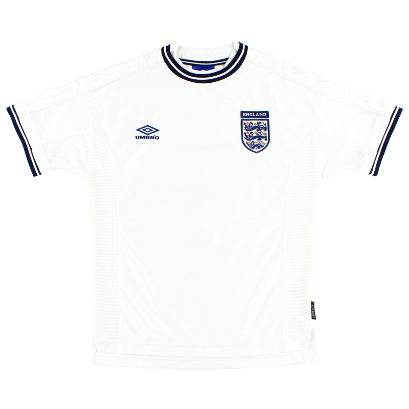 1999-01 England Umbro Home Shirt L