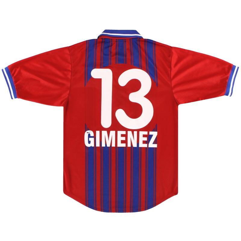 1999-01 FC Basel Nike Home Shirt Gimenez #13 S