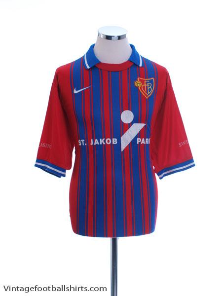 1999-01 FC Basel Home Shirt XL