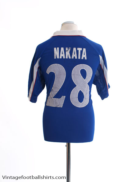 1999-01 Japan Home Shirt Nakata #28 L