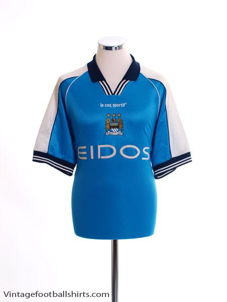 1999-01 Manchester City Home Shirt L